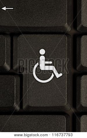 Symbol Of Disability On A Keyboard