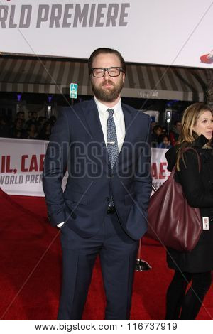 LOS ANGELES - FEB 1:  Joshua Leonard at the Hail, Caesar World Premiere at the Village Theater on February 1, 2016 in Westwood, CA