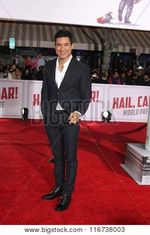 LOS ANGELES - FEB 1:  Mario Lopez at the Hail, Caesar World Premiere at the Village Theater on February 1, 2016 in Westwood, CA