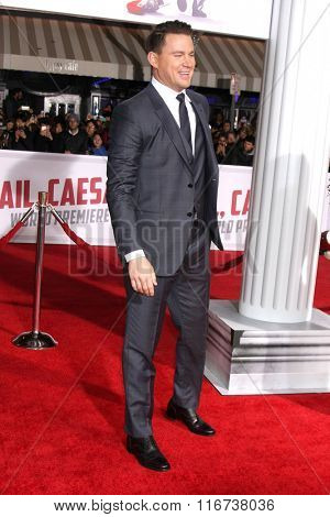 LOS ANGELES - FEB 1:  Channing Tatum at the Hail, Caesar World Premiere at the Village Theater on February 1, 2016 in Westwood, CA
