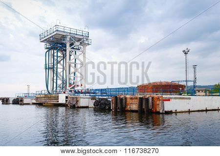 Oil Terminal. Equipment For Tankers Loading, Varna