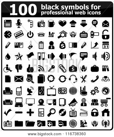 Business Icons Set black Series