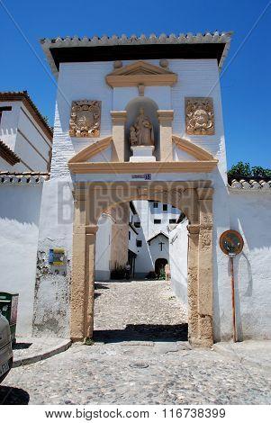 Monastery entrance arch, Granada.