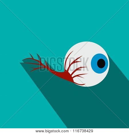 Eyeball flat icon with shadow
