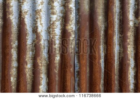 Old And Rusty Sheet Metal