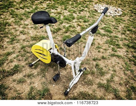 Stationary Bike In Outdoor Space