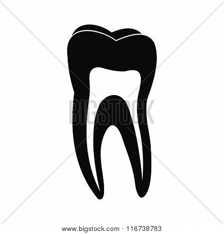 Human tooth black icon