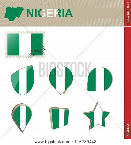 Nigeria Flag Set, Flag Set #67