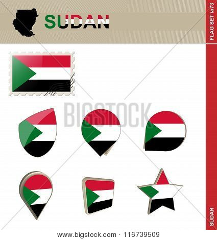 Sudan Flag Set, Flag Set #73