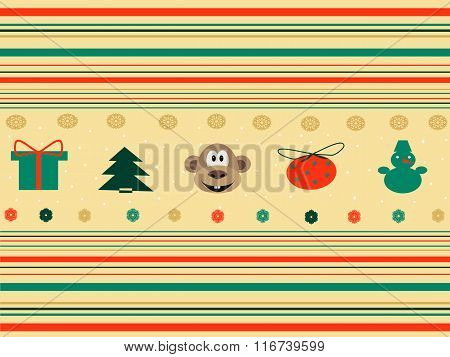 Seamless background with christmas icons