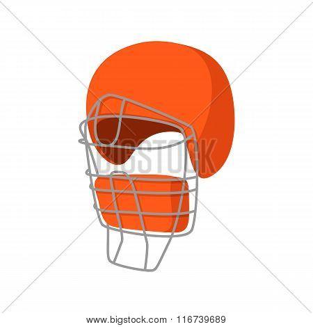 Baseball catcher helmet cartoon icon