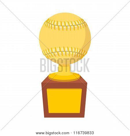 Baseball trophy cartoon icon