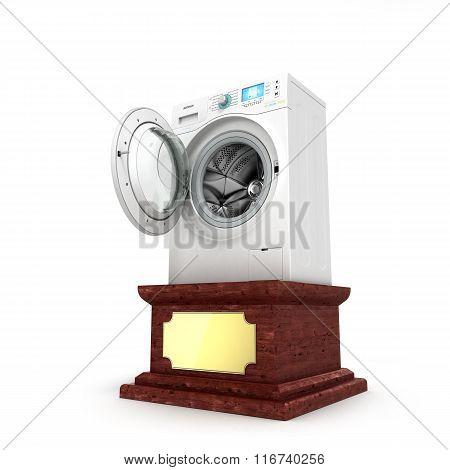 Concept Attractive Offer, Washer On A Pedestal
