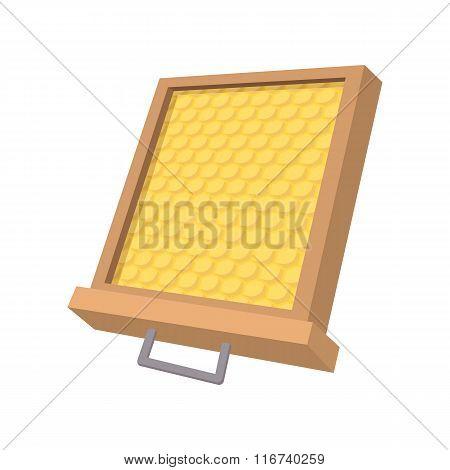 Honeycomb frame cartoon icon