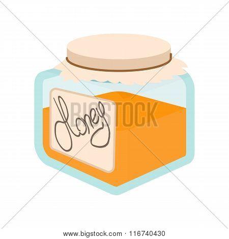 Honey bank cartoon icon