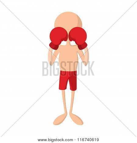 Boxer cartoon icon