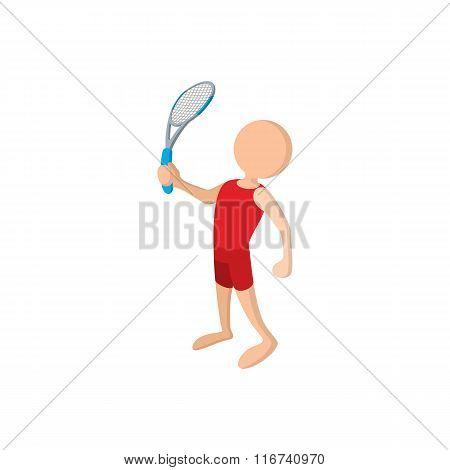 Tennis player cartoon icon