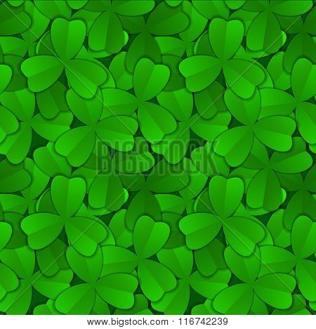 Seamless Pattern Clover Of Fortune