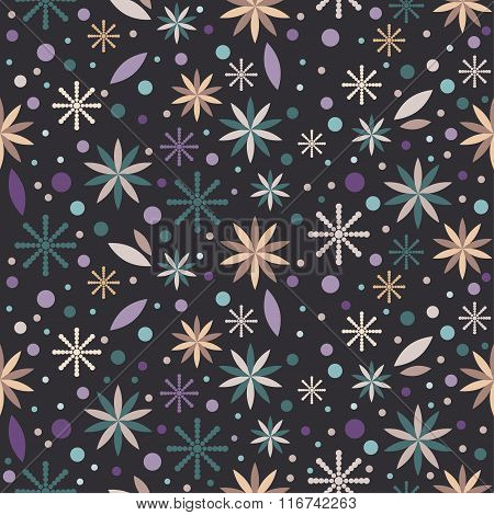 Flowers Floral Seamless Pattern Background