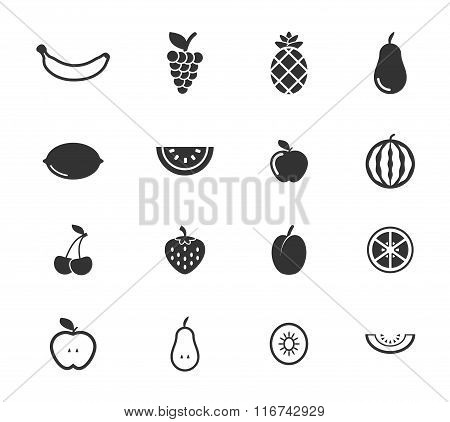 Fruits simply icons