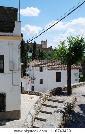 Buildings in the Albaicin District, Granada.