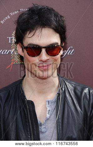 Ian Somerhalder at the John Varvatos 9th Annual Stuart House Benefit Presented By Chrysler And Hasbro held at the John Varvatos Boutique, California, United States on March 11, 2012.