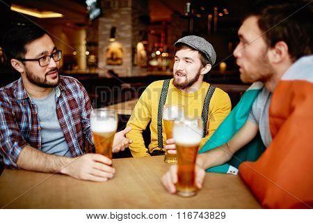 Talking in pub