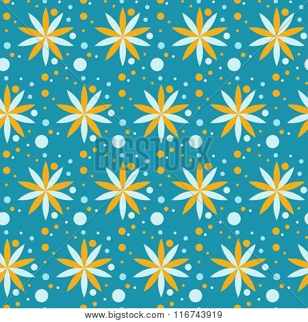 Flowers floral abstract seamless pattern background