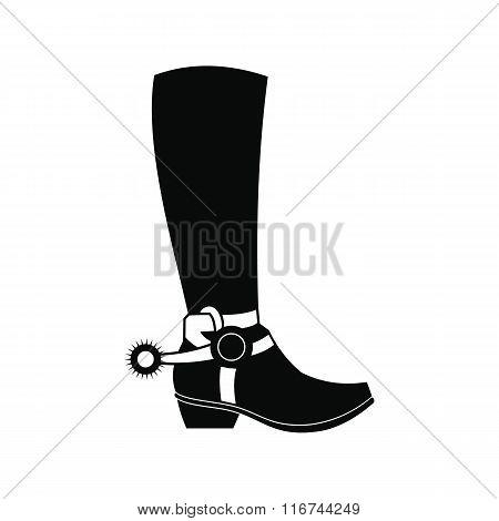Cowboy boot black simple icon