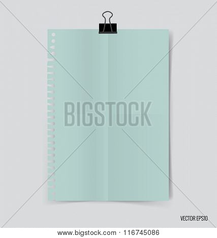 Collection of paper, ready for your message. Vector illustration.