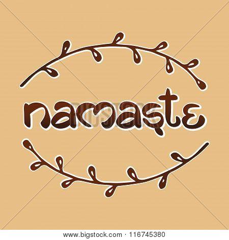 Indian welcome greeting Namaste