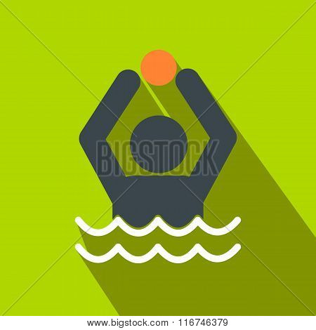 Water polo flat icon