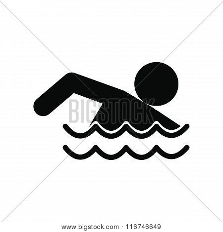 Swimmer black simple icon