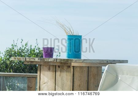 Still Life Of Two Tin Cans