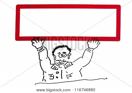 Hand Drawing Of An Advertising Character, Cartoon Character