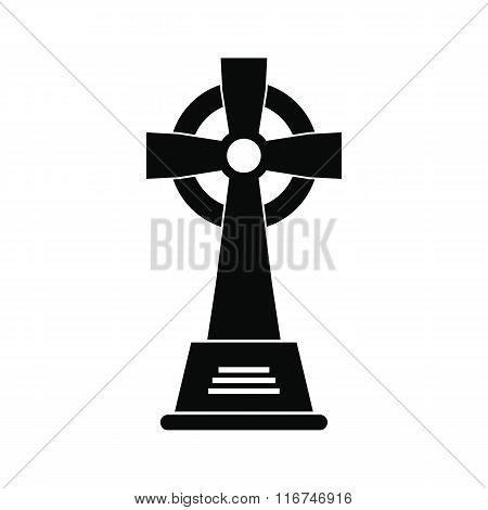 Tombstone black simple icon