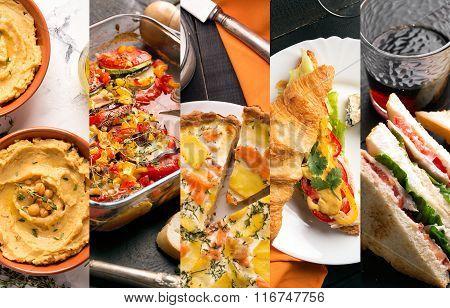 European Food Photo Collage