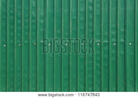 Steel Metallic Old Door, Green Grunge Metal Background