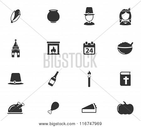 Thanksgiving simply icons