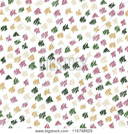 Abstract seamless hand-drawn scribbles pattern