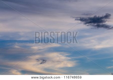 Cloud On Colorful Dramatic Sky Background