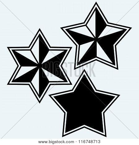 Stars icons set