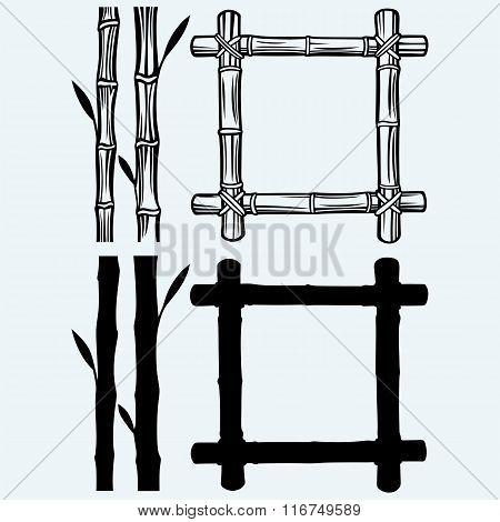 Frame of bamboo