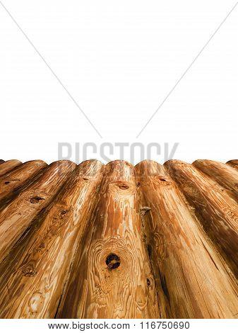 The Platform Of Wooden Log Planks