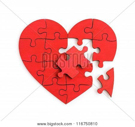 Puzzle Of The Heart Shape