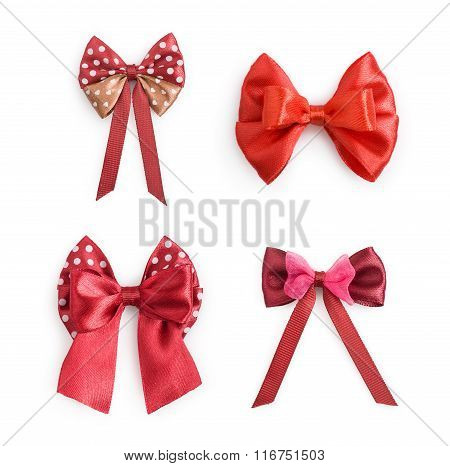 Collection Of Red Ribbon Bow