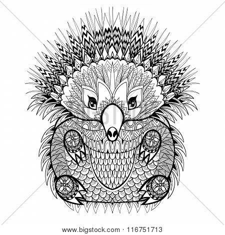Hand drawn Echidna, Australian animal illustration for antistres