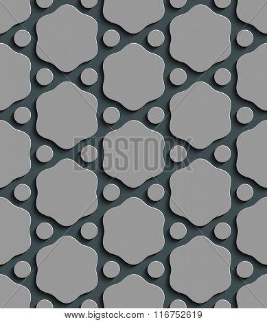 Seamless Hexagon Pattern. Vector Gray Background