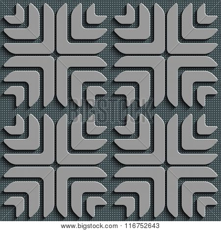 Seamless Square and Cross Pattern. Vector Regular Texture