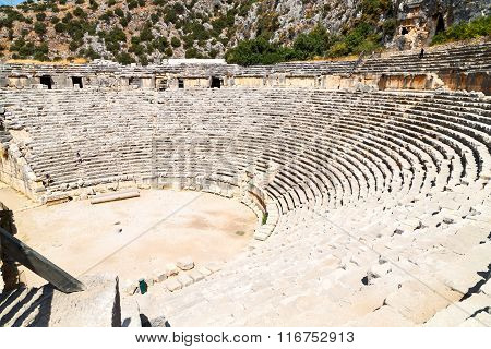 Archeology Theater  In  Myra Turkey